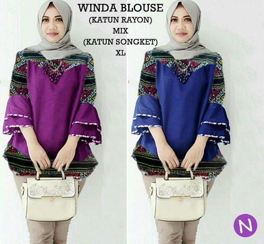 Jual 59131 winda blouse baju tunik wanita baju muslim wanita atasan ... 983fe6d6bb