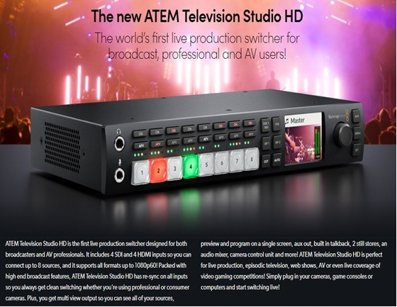Jual Blackmagic Design Atem Television Studio Hd Jakarta Selatan Adm Tekno Tokopedia