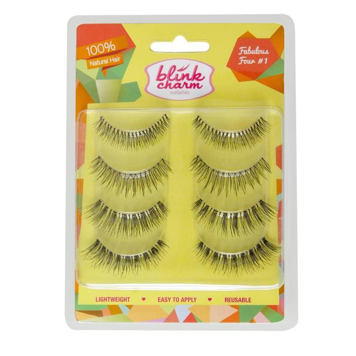 Bulu mata blink charm eyelashes fabulous four #1 - 4 pairs