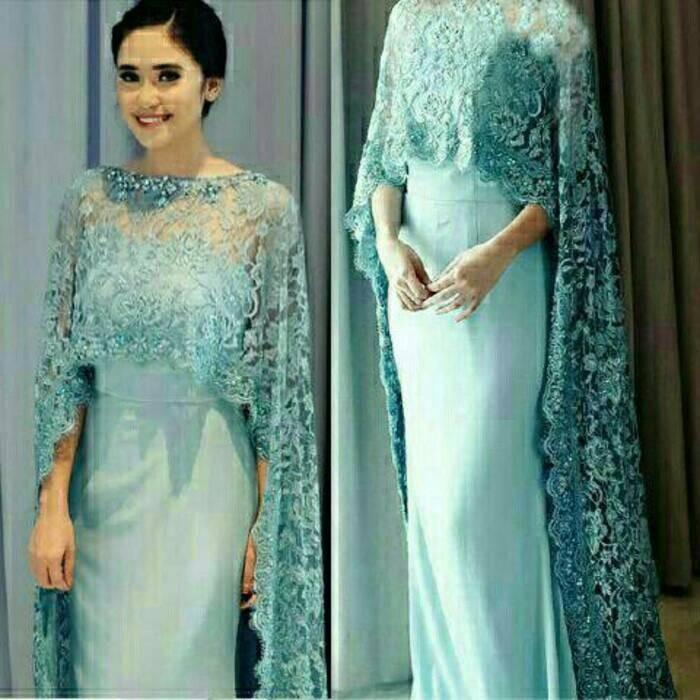 Jual Premium Branded Mewah Gaun Long Dress Pesta Kebaya Sabrina