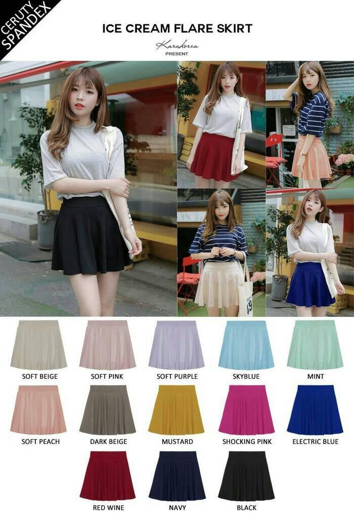 ... harga Highwaist mini skirt flare korea rok wanita ngembang payung xl jumbo Tokopedia.com