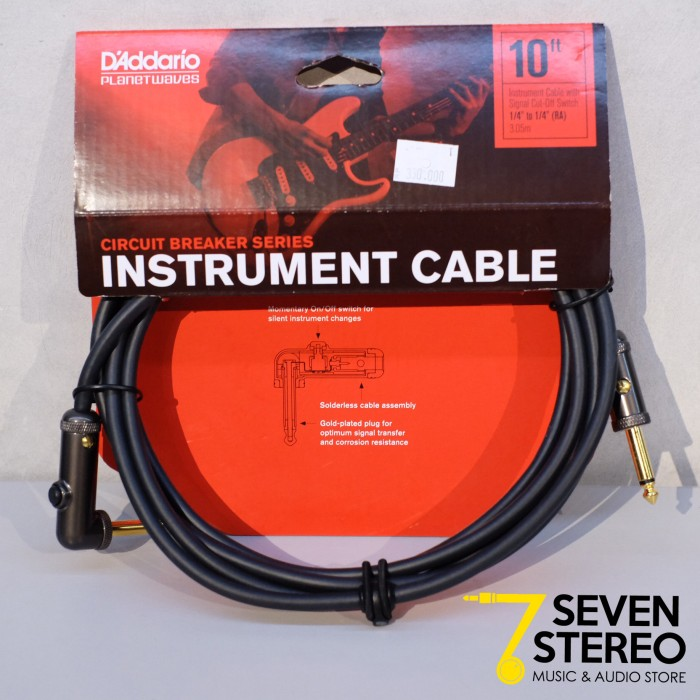 Planet waves pw-agra-10 ; 10 ft circuit breaker instrument cable