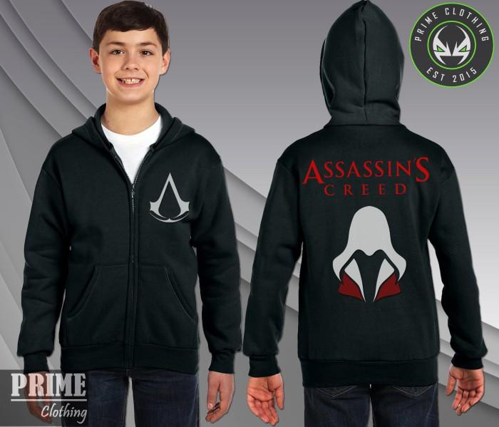 Jual Zip Up Hoodie Assassins Creed Hitam Kab Bandung Barat