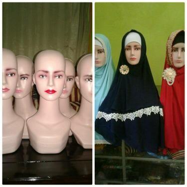 harga Manekin patung kepala display kerudung jilbab hijab topi syal wig Tokopedia.com