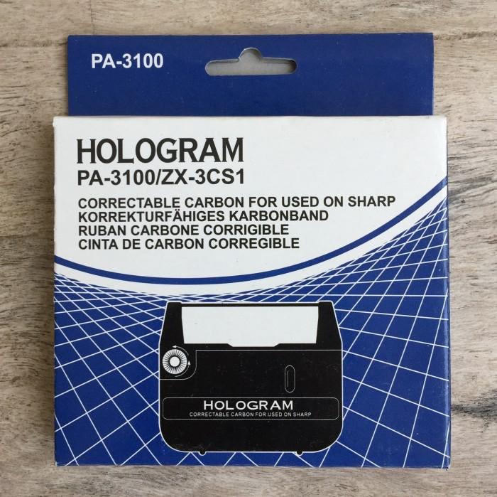 Pita mesin tik hologram utk sharp pa-3100/zx-3cs1 typewriter ribbon