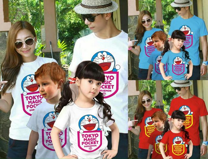 Baju Kaos Pasangan Keluarga Couple Family Anak Ayah Bunda Doraemon 4