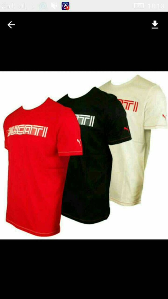Jual Tshirt Baju Kaos Puma Ducati Keren Terlaris Pondok Clothing Lacoste  Classic Hood Logo Marine Shop ab71de6705