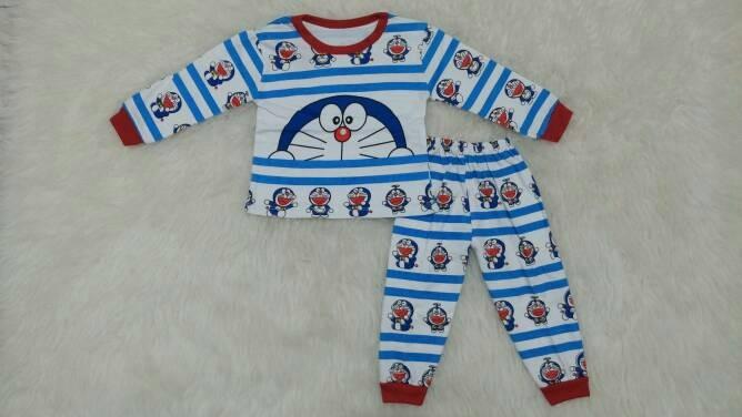 Piyama bayi / Piyama anak / baju tidur anak bayi doraemon salur