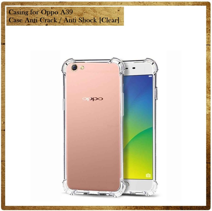 Casing for Oppo A39 Case Anti Crack / Anti Shock [Clear]
