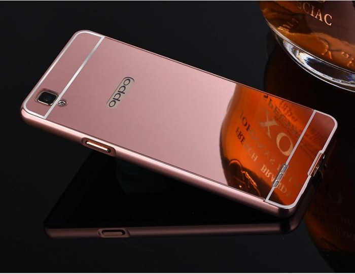 Casing Kesing HP Bumper Mirror Case Oppo F1 ( A35 ) Selfie Expert