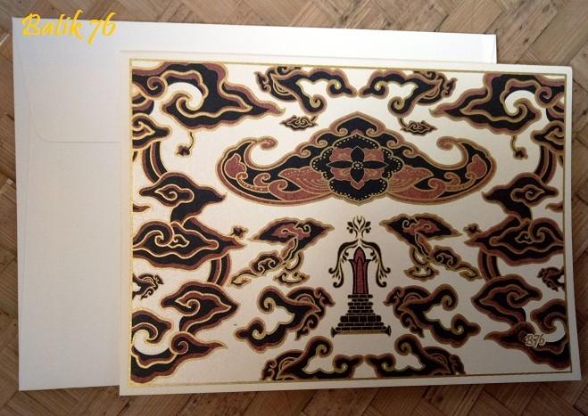 Jual Jual Kartu Ucapan Handmade Size Medium Motif Batik Wahyu
