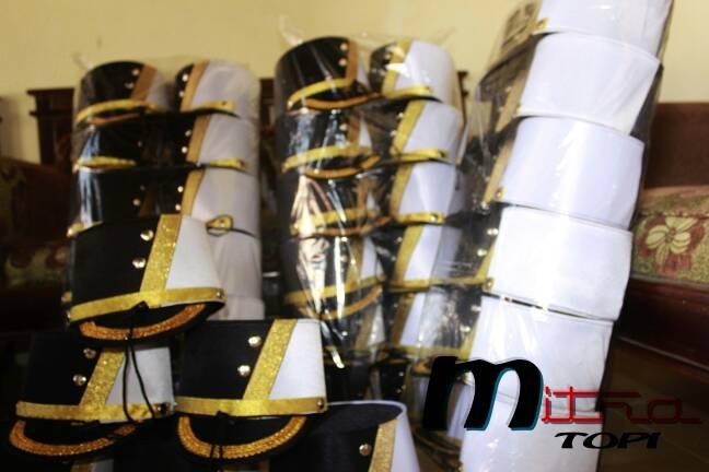 Foto Produk Topi drumband pasukan black white dari AZMI top COLLECTION