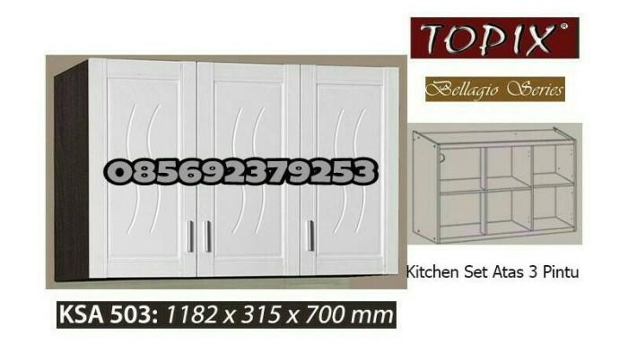 Update Harga Kitchen Set Lemari Gantung Dapur Topix 3 Pintu Di