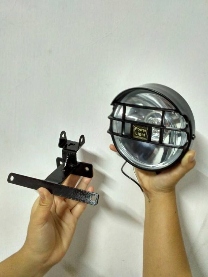 harga Lampu fokus (asli) + dudukan lampu depan buat shock rx king / bison Tokopedia.com