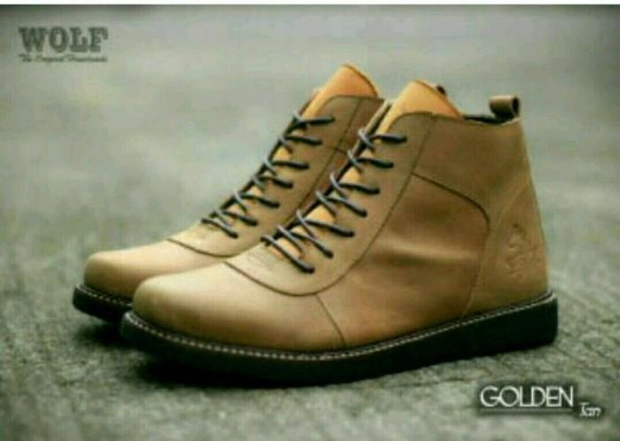 sepatu brodo kulit asli WOLF original - sepatu kulit pria +(real pic) aa34397962