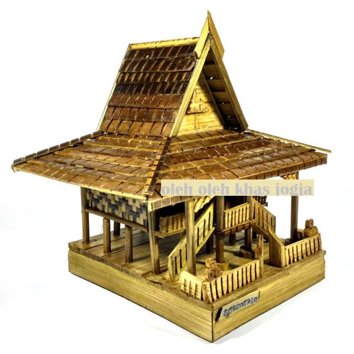 Jual Miniatur Rumah Adat Gorontalo Oleh Oleh Khas Jogja Tokopedia