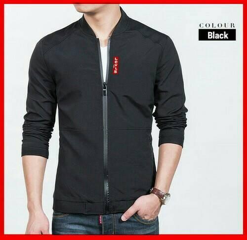 harga Jaket pria warna hitam (jaket lv) / jake cowok keren Tokopedia.com