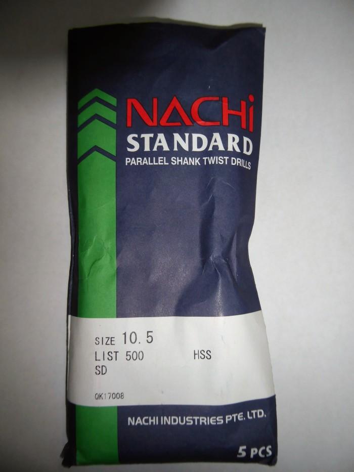 harga Nachi 10.5 mm mata bor besi hss asli Tokopedia.com