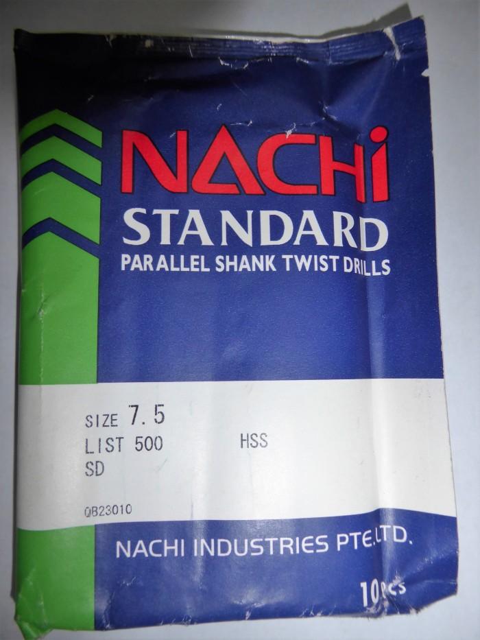 harga Nachi 7.5 mm mata bor besi hss asli Tokopedia.com