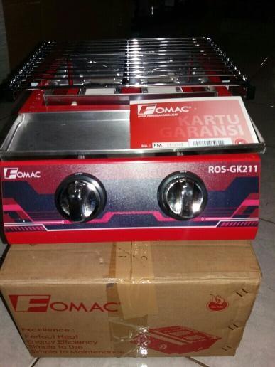 Kompor Pemanggang Panggangan Gas Roaster 2 Tungku ROS-GK211 Tanpa Asap