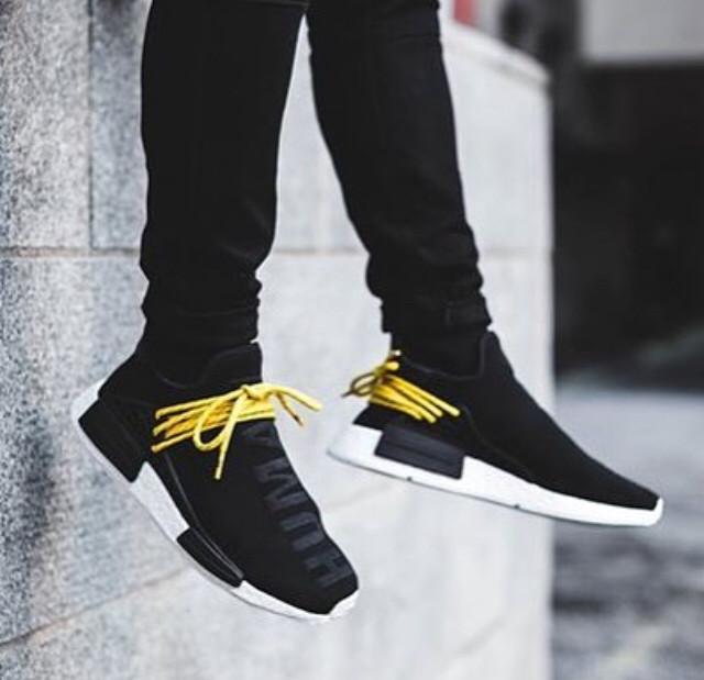 19aec2ce1 Jual Adidas NMD Human Race Black Yellow Sneaker Pria Sepatu PREMIUM ...
