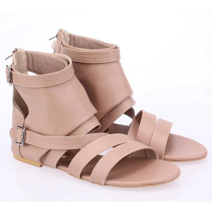 harga Sandal sendal gladiator wanita cewek cewe flat warna krem rtt 005 rz Tokopedia.com