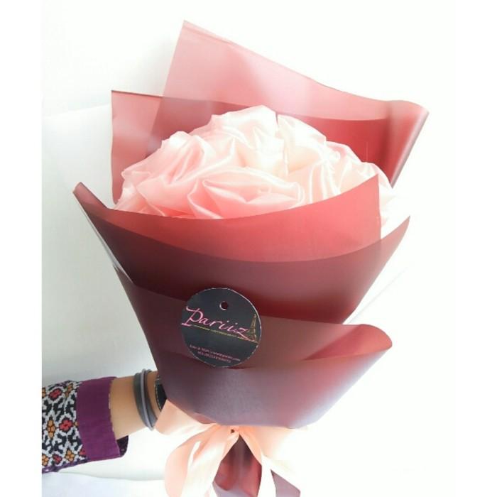 Foto Produk Buket bunga Pariiz peach coklat transparan/buket ulang tahun/kado dari Pariiz Gift Online