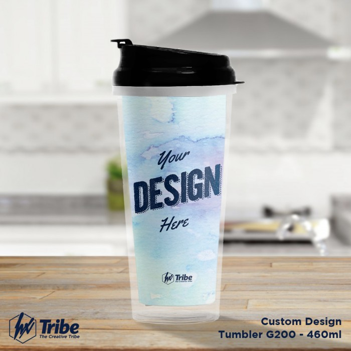 harga Tumbler / tempat minum g200 460ml insert paper- custom design Tokopedia.com