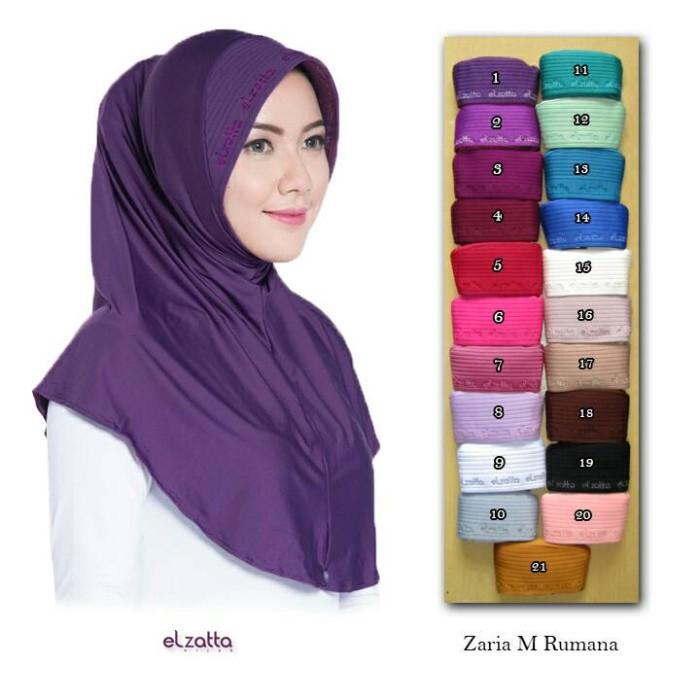 Jual Jilbab Bergo Elzatta Zaria M Rumana Agen Elzatta Hijab