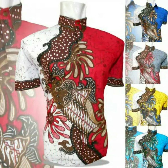 harga Kemeja batik pria modern   batik pekalongan Tokopedia.com