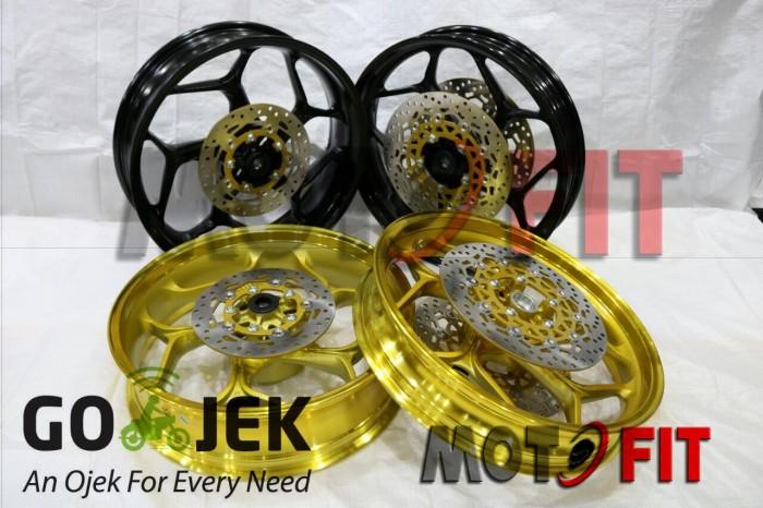 harga Velg lebar yamaha r15 axio double disc cakram hitam|velg r15 byson Tokopedia.com