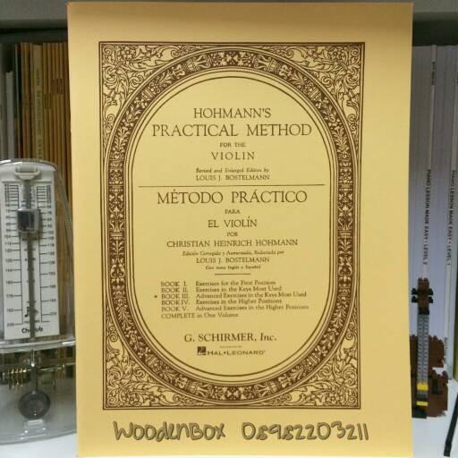 Foto Produk Hohmann Practical Method for the Violin Book 3 Schirmer dari WoodenBox