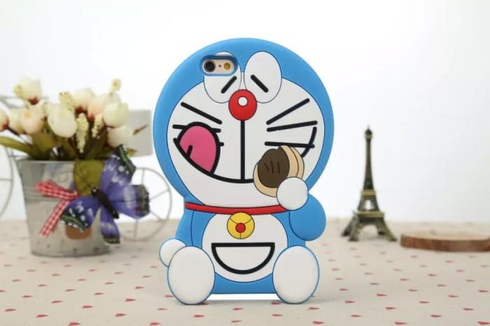 Jual Iphone 6 6s 3d Doraemon Silikon Sarung Softcase Case Gambar