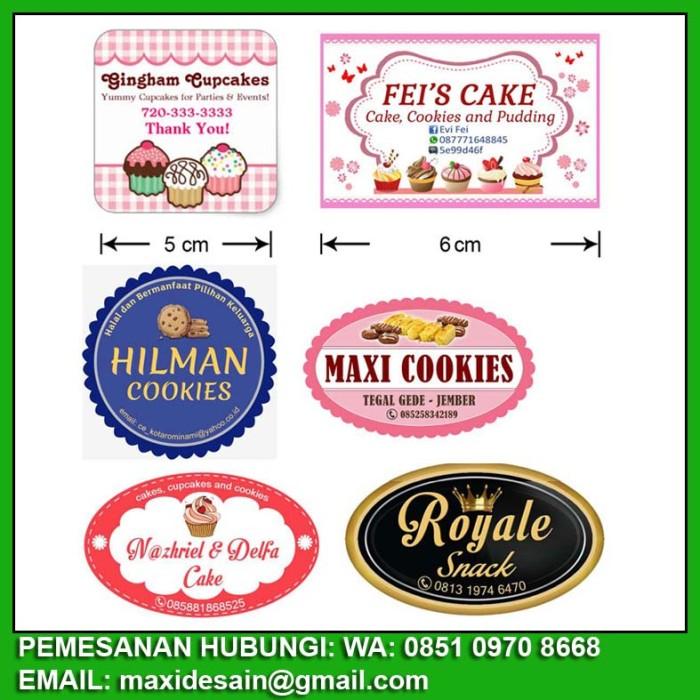 Jual Sticker Label Produk Untuk Toples Dan Merk Kemasan Produk