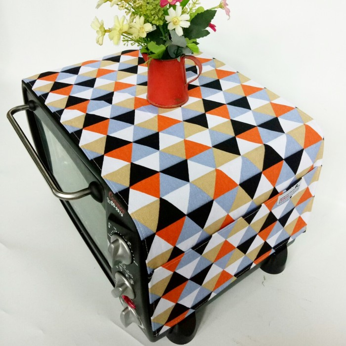 harga Cover oven / penutup microwave - triangle black orange Tokopedia.com