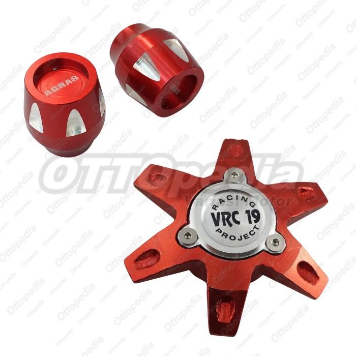 harga Paket tutup as roda depan cnc + belakang vrc vario 110 cw / karbu mrah Tokopedia.com