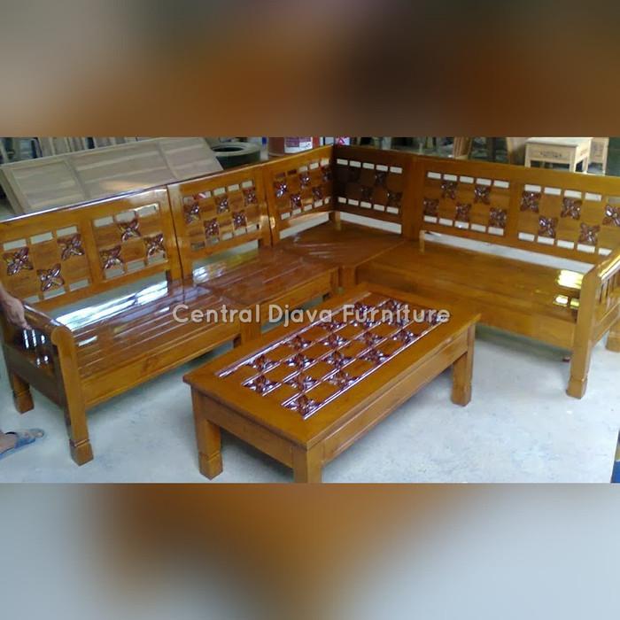 Jual Kursi Meja Tamu Sudut Kayu Jati Ukir Kupu Kupu Minimalis Furniture Kab Jepara Central Djava Furniture Tokopedia