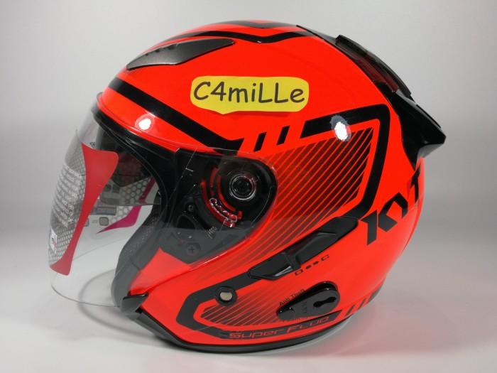 harga Helm kyt galaxy double visor super fluo red fluo Tokopedia.com