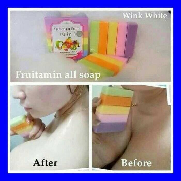 FRUITAMIN SOAP By Wink White ORIGINAL THAILAND / Sabun Pencerah
