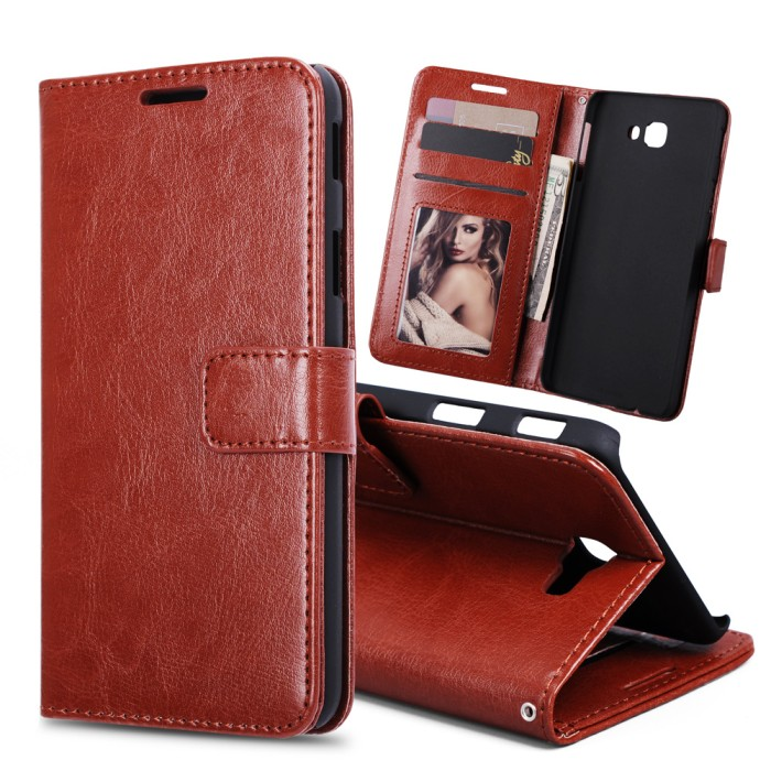harga Flip cover wallet samsung galaxy j7 prime on7 on 7 2016 leather case Tokopedia.com