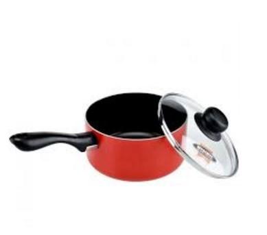 Teflon maxim casablanca sauce pan + tutup kaca 17 cm