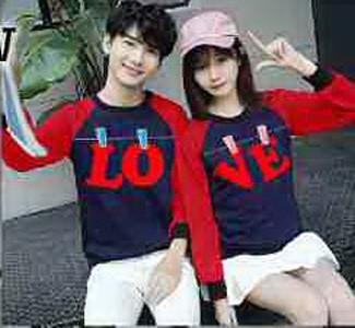 harga Baju couple lengan panjang / kaos pasangan 10659 jemuran love navy Tokopedia.com