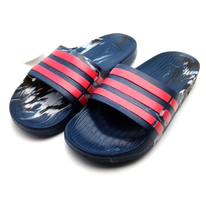 6e4301d05a28 Jual Sandal Adidas Duramo Slide Marble Navy AQ5257 Orginal BNWT ...
