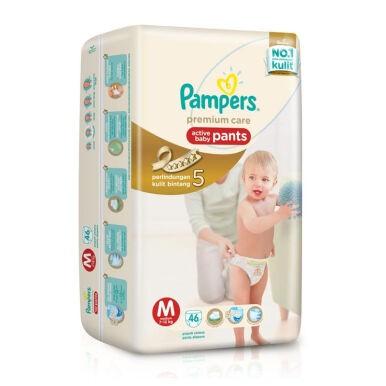 harga Pampers premium care pants m46 / m 46 (khusus via go-send / go-jek) Tokopedia.com