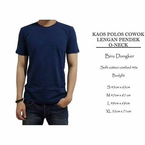 Jual Kaos Polos Cowok O Neck Warna Biru Dongker Kota Bogor Dotsukyu Tokopedia