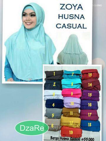 Foto Produk Jilbab Zoya bergo Husna Casual / jilbab casual / jilbab terkini dari Dzaluka Rejeki