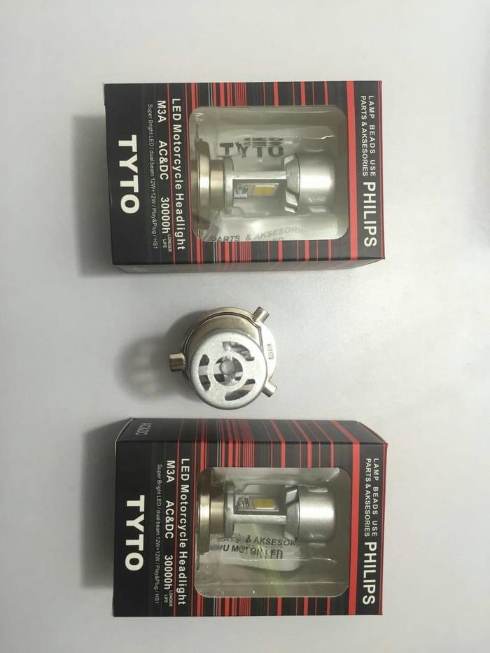 harga Lampu utama led motor philips h4 5500k Tokopedia.com