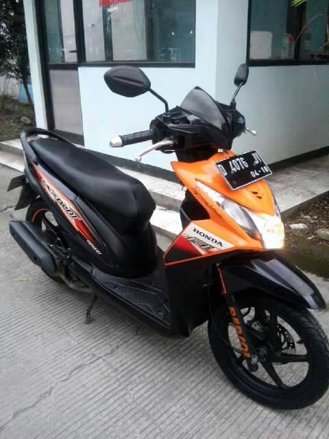 Gambar Modifikasi Motor Beat Orange