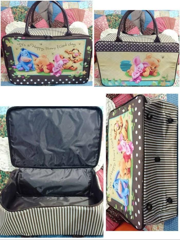 harga Murah!!! travel bag kanvas koper anak karakter pooh Tokopedia.com