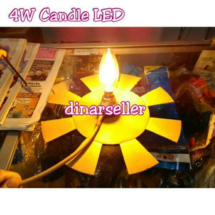 harga Lampu hias filamen led candle 4w / 4 watt new generation 600 lumen e14 Tokopedia.com